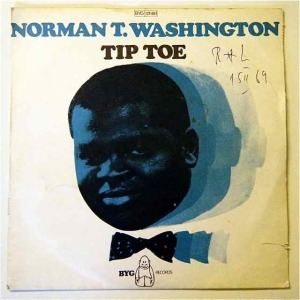 Norman T. Washington on the single cover of Tip Toe